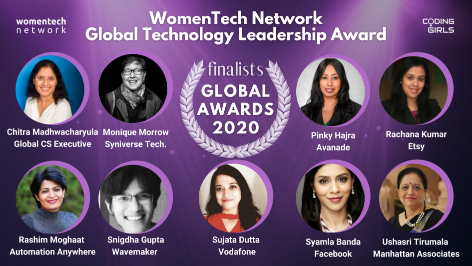 WomenTech Network Global Technology Leadership Award 2020
