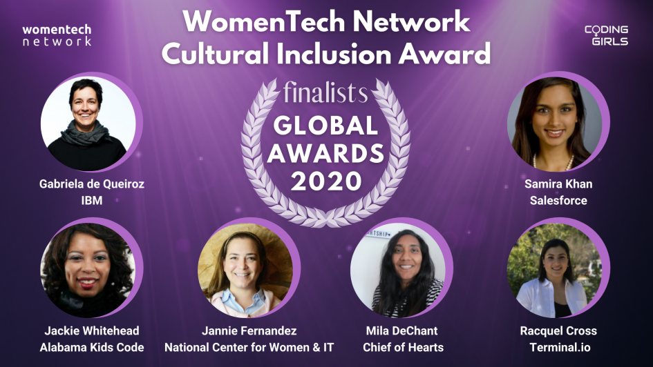 WomenTech Network Cultural Inclusion Award 2020
