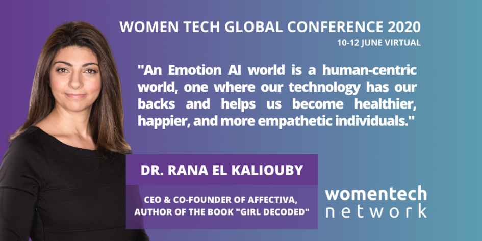 Dr. Rana el Kaliouby, Speaker WomenTech Global Conference