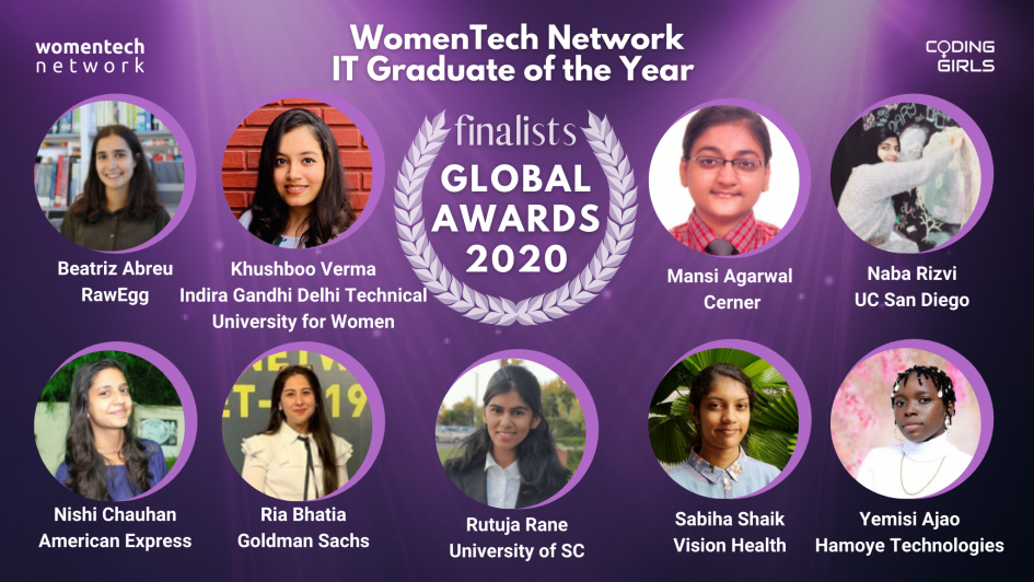 WomenTech Network IT Graduate of the Year Award 2020