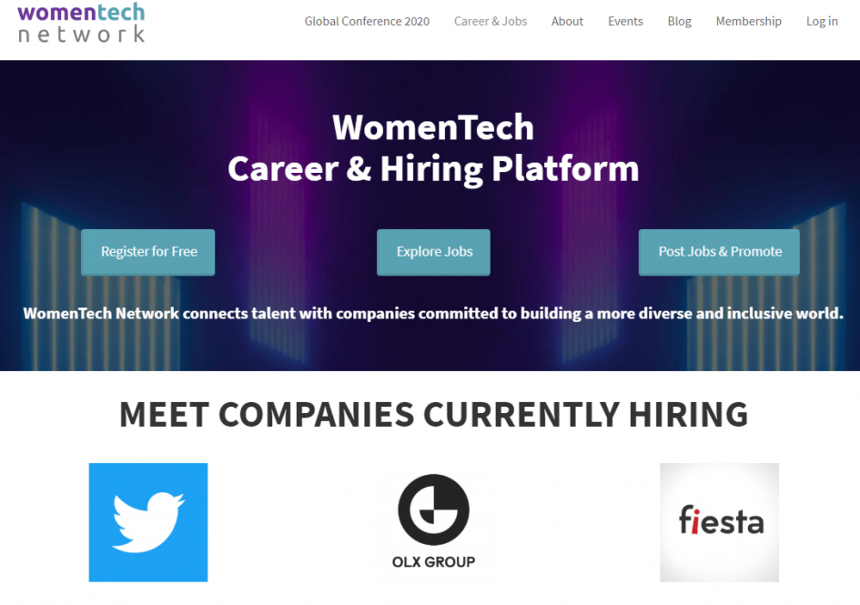 WomenTech Network Job Board