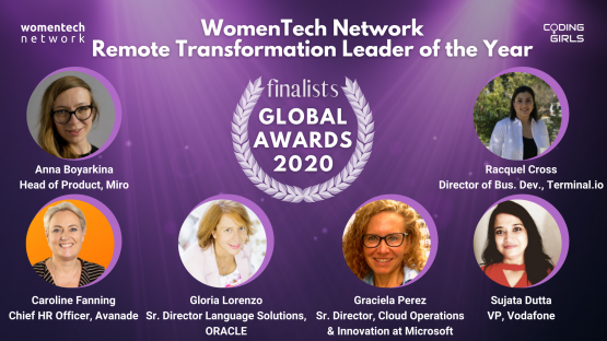 WomenTech Network Remote Transformation Leader of the Year Award 2020