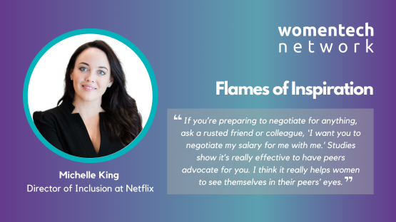 Michelle King, WomenTech Network, Netflix