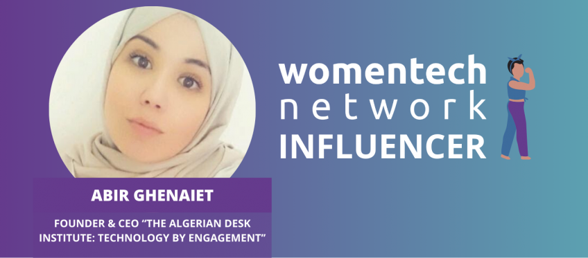 Abir Ghenaiet, WomenTech Global Conference Influencer