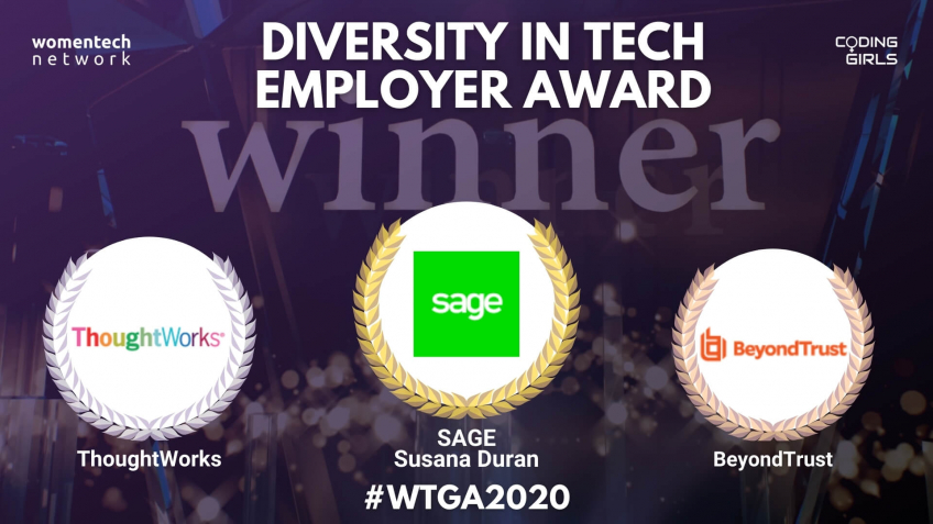 WTGA2020 Diversity in Tech Employer of the Year