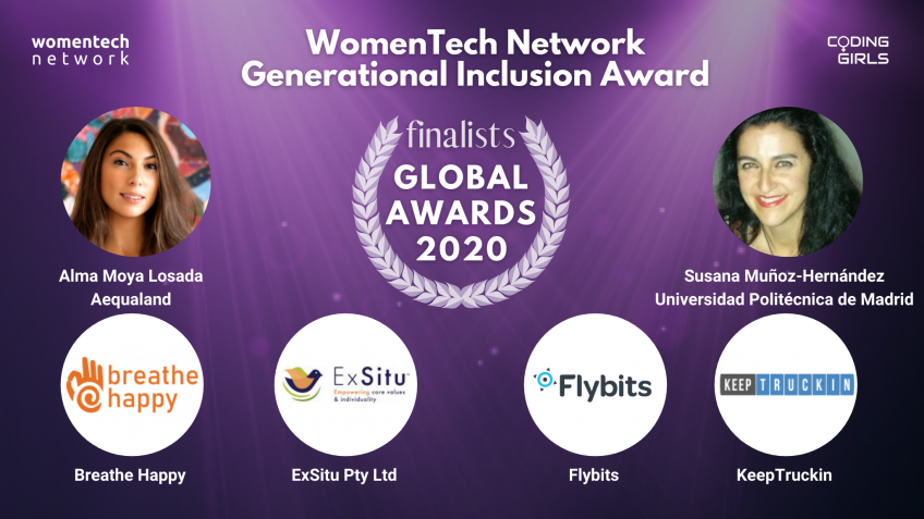 WomenTech Network Generational Inclusion Award 2020