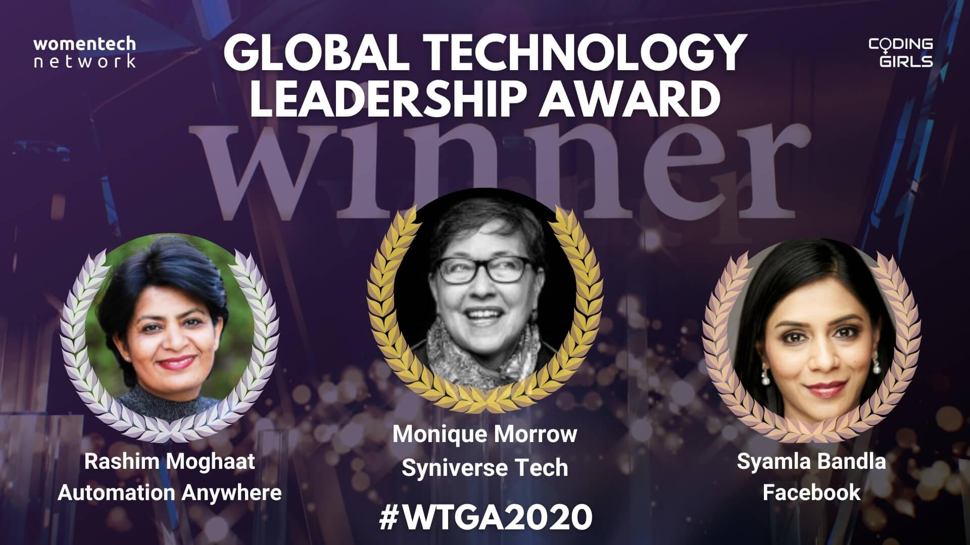 women in tech global technology leadership award
