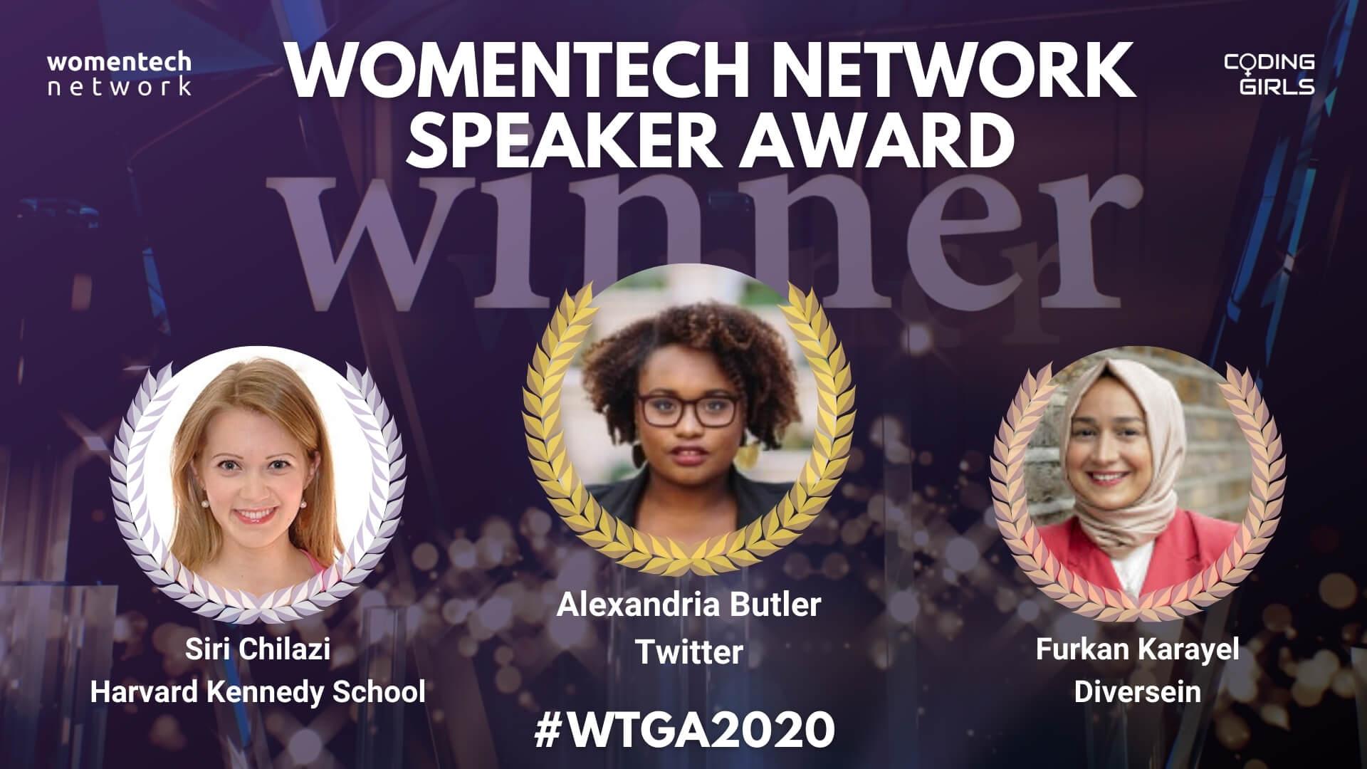 Women in Tech Speaker of the Year Award